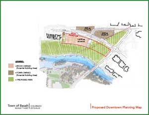 PROPOSED Downtown Planning Map With Acreages